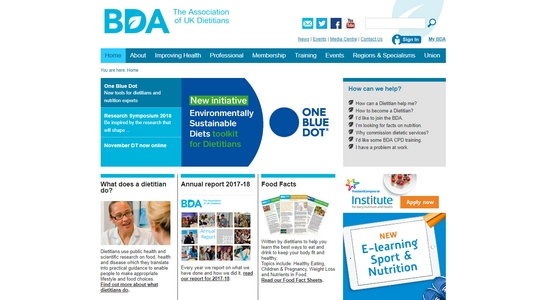 BDA Food Facts Sheets