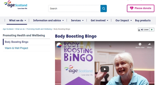 Body Boosting Bingo