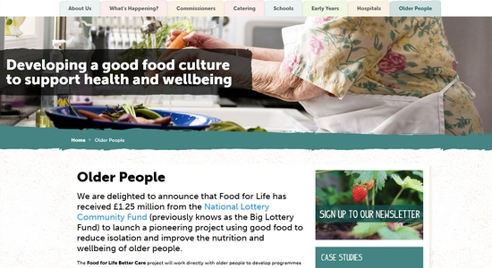 Food for Life: Better Care