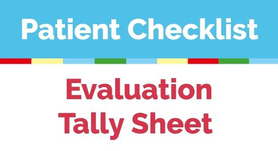 Patient Checklist Tally Sheet