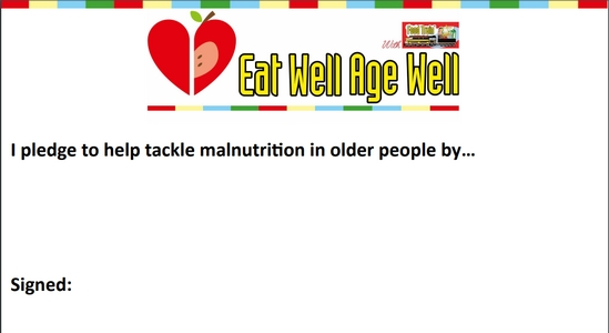 Eat Well Age Well Pledge Certificate