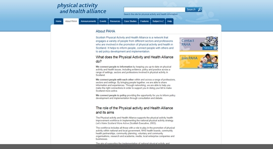 Physical Activity and Health Alliance